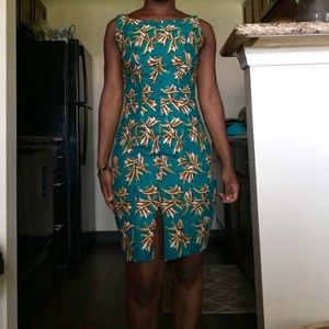 Ghana Fabric Dress with Front Slit